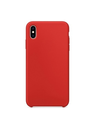 Bludfire Apple iPhone XS Max Kılıf Liquid Lansman Silikon Kırmızı Kırmızı